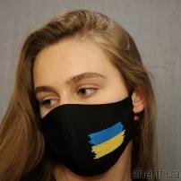"Маска многоразовая ""вышивка Флаг Украины"" модель 1.41"