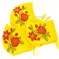 maska-mnogorazovaya-yellow-s-vyshivkoj-rozy-i-fiksatorom-na-nosu-model-7-22