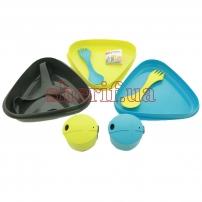 Набір посуду для двох Pack'n Eat Kit  (Lime/Cyan) LMF 50684340
