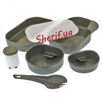 Набор посуды MIL-TEC пластиковый 7 предметов Wildo OD