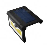 Настенный уличный светильник SH-090B-COB, 1x18650, PIR+CDS, солнечная батарея
