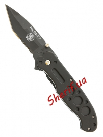 Нож MIL-TEC EINHANDMESSER Firefighter Black