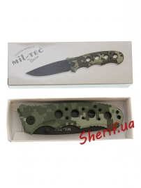 Нож MIL-TEC One-hand Knife Perforated Grip ACU-4
