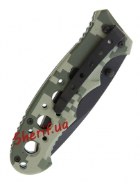 Нож MIL-TEC One-hand Knife Perforated Grip ACU-6