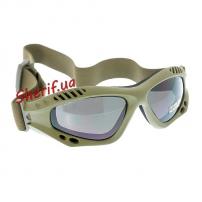 Очки десантные MIL-TEC AIR PRO Olive Smoke-gray