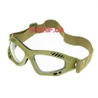Очки десантные MIL-TEC AIR PRO Olive Clear