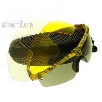 Очки защитные Oakley 3-lens Kit Desert(камыш)