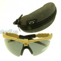 Очки защитные Oakley Polarized 3-lens Kit TAN(койот)