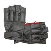 Перчатки MIL-TEC кожаные без пальцев DEFENDER Black