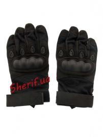Перчатки тактические Oakley FF+плас.кост. Black