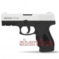 R506980C Пистолет стартовый Retay PT24 кал. 9 мм. Цвет - chrome.