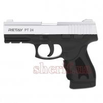 R506980N Пистолет стартовый Retay PT24 кал. 9 мм. Цвет - nickel.