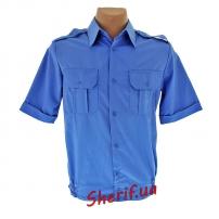 Рубашка синяя МВД (короткий рукав)