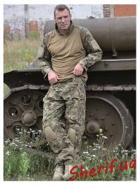 """Рубашка тактическая MIL TEC """"Warrior"""" Woodland-Arid-8"""