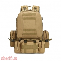 Рюкзак тактический с подсумками Coyote, 55л