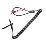 Страховочный шнур для пистолета Roco SPC-01 спиральный Black