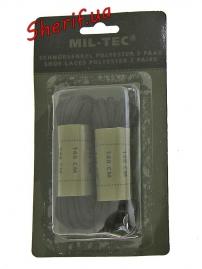 Шнурки черные MIL-TEK140 см, 12912202