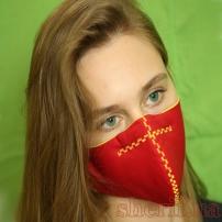 Маска многоразовая  Red\Yellow с фиксатором на носу модель 6.06